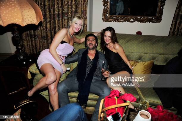 Aura Cercel Corina Marinescu attend NICOLAS BERGGRUEN's 2010 Annual Party at the Chateau Marmont on March 3 2010 in West Hollywood California