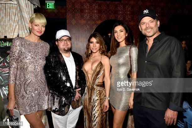 Aura Copeland, Gilda Garza, Viliana Madi and guests attend 'The Last Kings' at Swan Miami on December 07, 2019 in Miami, Florida.