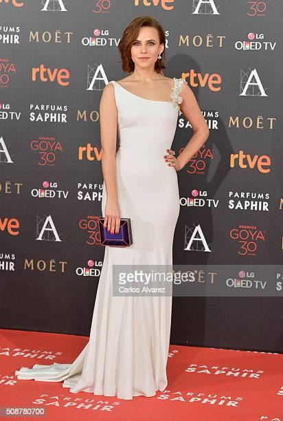 Aura Garrido attends Goya Cinema Awards 2016 at Madrid Marriott Auditorium on February 6 2016 in Madrid Spain