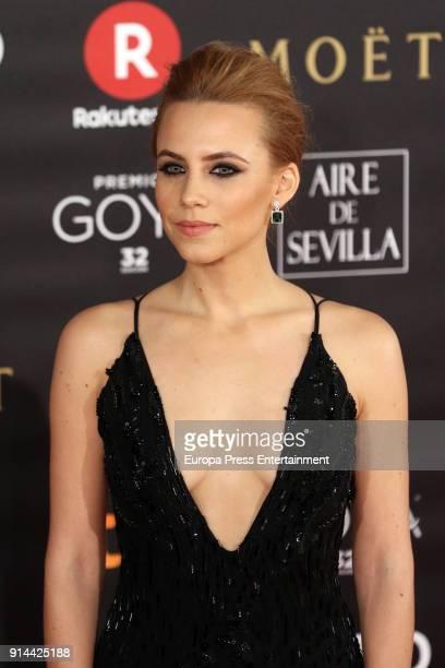 Aura Garrido attends Goya Cinema Awards 2018 at Madrid Marriott Auditorium on February 3 2018 in Madrid Spain