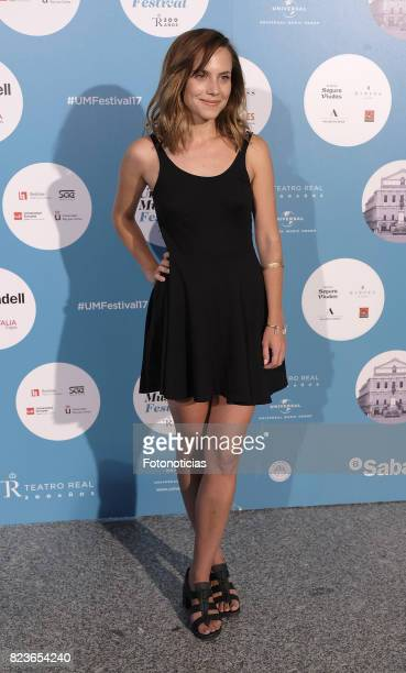 Aura Garrido attends the James Rhodes Universal Music Festival concert at The Royal Theater on July 27 2017 in Madrid Spain