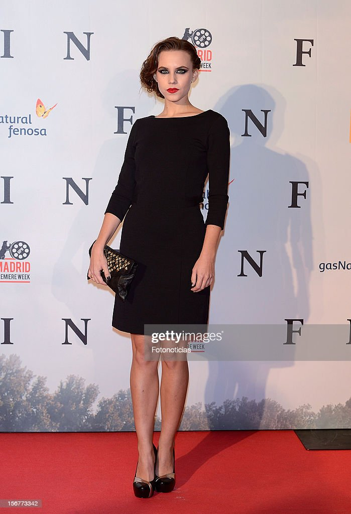 Aura Garrido attends the premiere of 'Fin' at Callao Cinema on November 20, 2012 in Madrid, Spain.