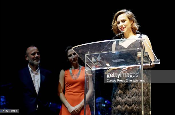 Aura Garrido attends the Union de Actores awards 25th anniversary on March 14 2016 in Madrid Spain