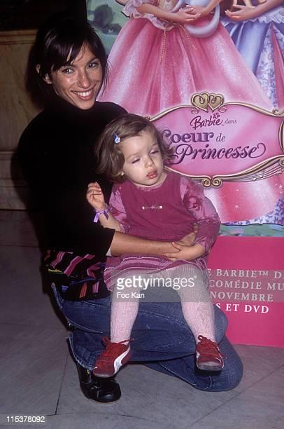 Aure Atika and her daughter during Barbie Princess Heart Show Premiere - Arrivals at Opera Garnier in Paris, France.