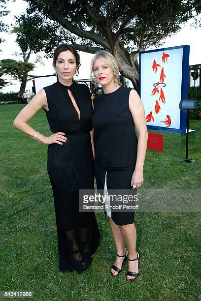 Aure Atika and Karin Viard attend Fred Jeweler Celebrates 80 Years of Creation at Hotel Cap Estel in Eze, France on June 23, 2016.