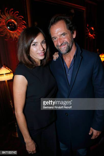 Aure Atika and Stephane De Groodt attend the Reopening of the Hotel Barriere Le Fouquet's Paris, decorated by Jacques Garcia, at Hotel Barriere Le...