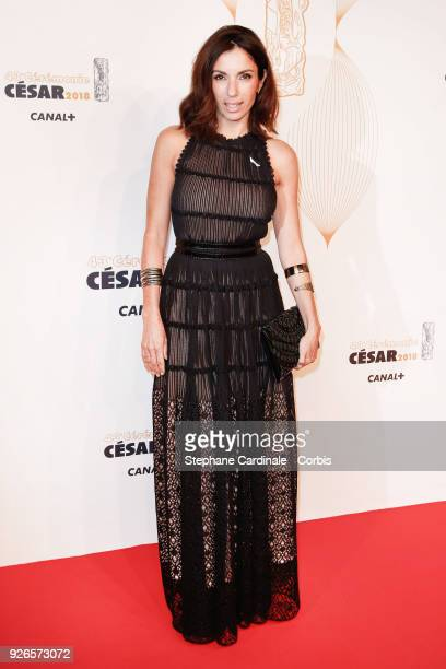 Aure Atika arrives at the Cesar Film Awards 2018 at Salle Pleyel at Le Fouquet's on March 2 2018 in Paris France