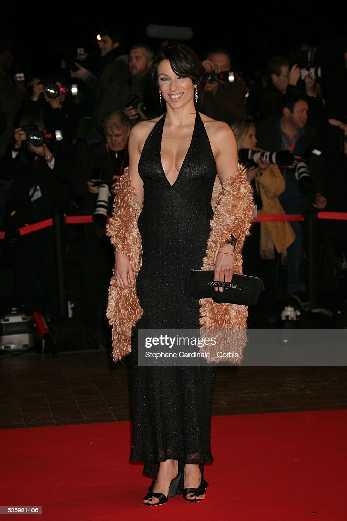 Aure Atika arriving at the Cannes festival palace to attend the NRJ Music Awards.