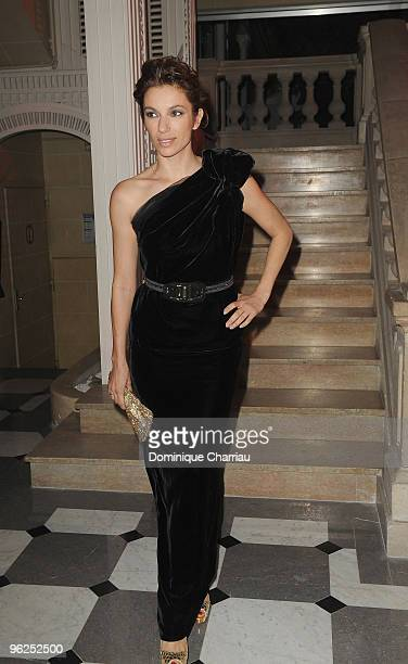 Aure Atika attends Fashion Dinner for AIDS at Pavillon d'Armenonville on January 28, 2010 in Paris, France.