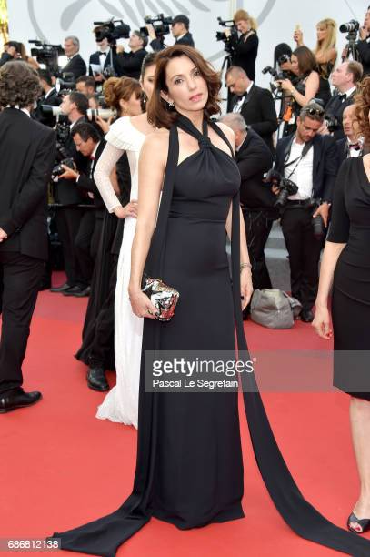 Aure Atika attends the The Killing Of A Sacred Deer screening during the 70th annual Cannes Film Festival at Palais des Festivals on May 22 2017 in...