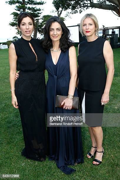 Aure Atika, President of Fred, Rachel Marouani and Karin Viard attend Fred Jeweler Celebrates 80 Years of Creation at Hotel Cap Estel in Eze, France...