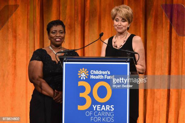 Aurelia JonesTaylor and Jane Pauley speak onstage during the Children's Health Fund 2018 Annual Benefit at Cipriani 42nd Street on June 13 2018 in...