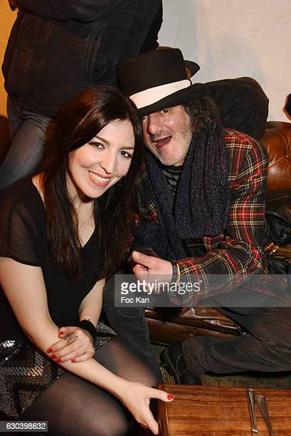 Aurelia Khazan and Rachid Taha attend the 'Back in 1966' Concert at La Bellevilloise on December 21 2016 in Paris France