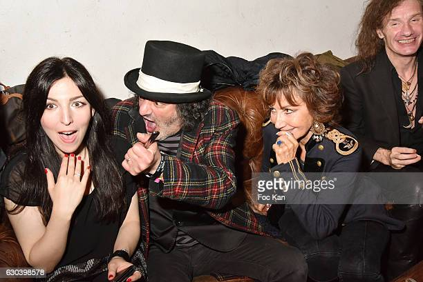 Aurelia Khazan Rachid Taha PR Betty de Fremont and musician Yan Pechin attend the 'Back in 1966' Concert at La Bellevilloise on December 21 2016 in...