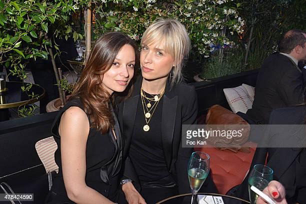 Aurelia Vigouroux from Femme dechef and Anne Sophie Mignaux attends the 'Hublot Blue' cocktail party At Monsieur Bleu Palais De Tokyo on June 24 2015...