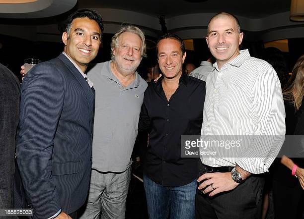 Aurelian Marketing Group CEO Rehan Choudhry chef Jonathan Waxman chef Brucer Bromberg and guest attend the kick off for the Life is Beautiful...