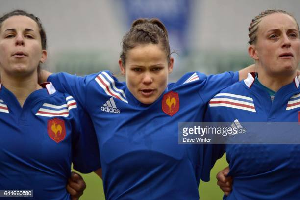 Aurelie BAILON / Camille GRASSINEAU / Sandra METIER France / Etats Unis Rugby feminin Photo Dave Winter / Icon Sport