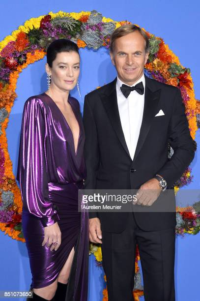 Aurelie Dupont and Jean Frederic Dufour attend the opening season gala at Opera Garnier on September 21 2017 in Paris France
