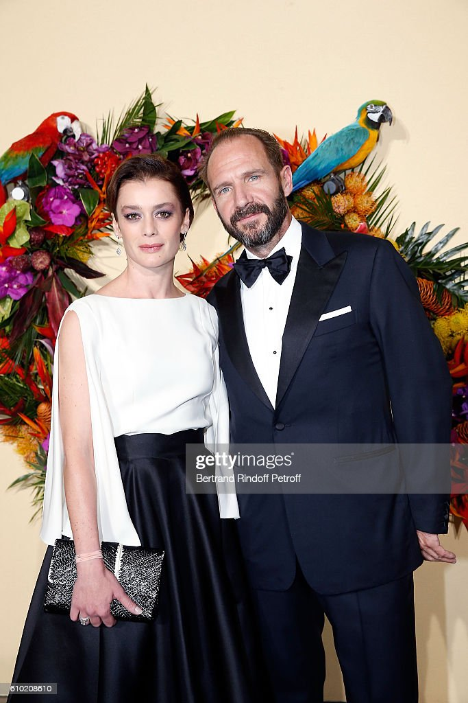 Aurelie Dupont and Ralph Fiennes attend the Opening Season Gala at Opera Garnier on September 24, 2016 in Paris, France.