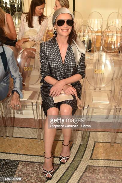 Aurelie Dupont attends the Giorgio Armani Prive Haute Couture Fall/Winter 2019 2020 show as part of Paris Fashion Week on July 02, 2019 in Paris,...