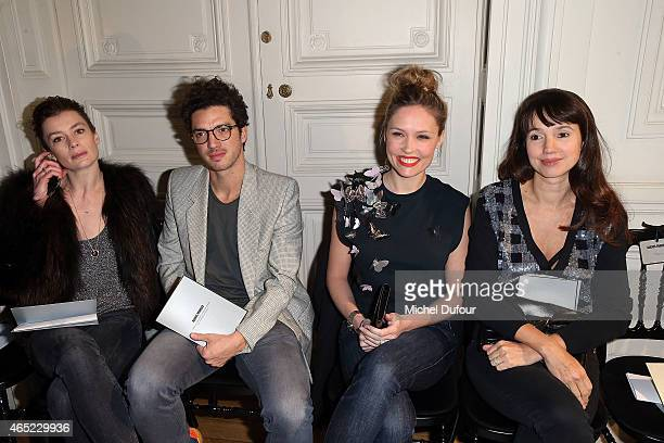 Aurelie Dupont Jeremie Belingard Lilou Fogli and Delphine McCarty attends the Alexis Mabille show as part of the Paris Fashion Week Womenswear...