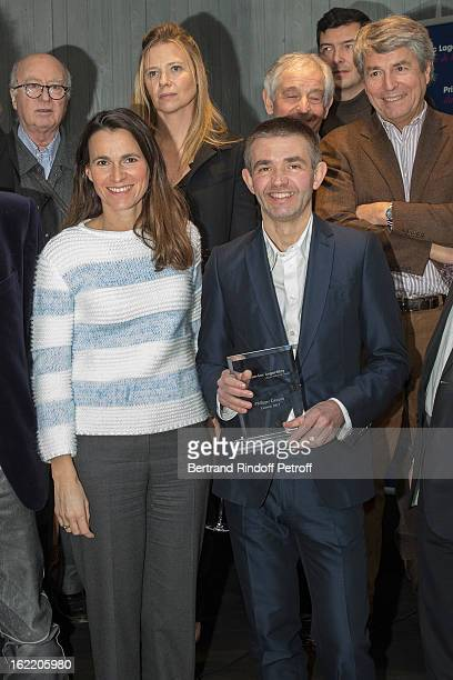 Aurelie Filipetti French Culture Minister Philippe Lancon Prize Laureate And Georges Wolinski Aude Lancelin Ivan Levai