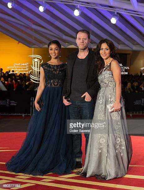Aurelie Konate and Fabienne Carat attend the 'Cinecoles Jury members' award ceremony as part as 14th Marrakech International Film Festival on...
