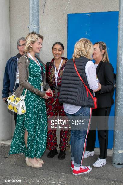 Aurelie Konate and guests attend the 24 Hours of Le Mans race on June 15, 2019 in Le Mans, France.