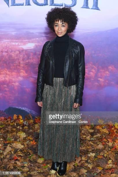 "Aurelie Konate attends ""Frozen 2"" Paris Gala Screening at Cinema Le Grand Rex on November 13, 2019 in Paris, France."