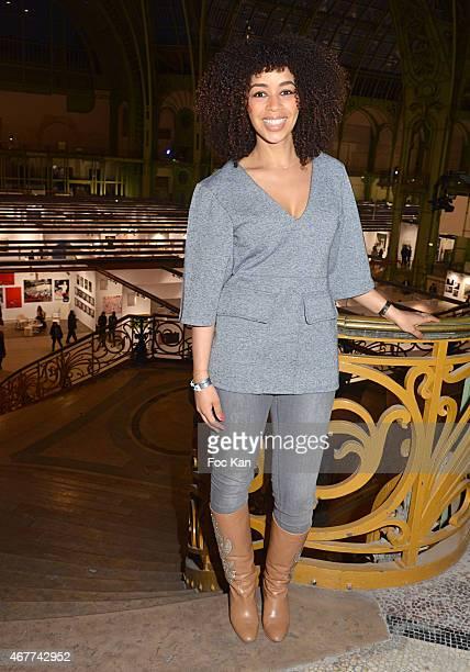 Aurelie Konate attends the 'Diamond Night by Divinescence Vendome' Harumi Klossowska Jewellery Exhibition Preview As Part Of Art Paris Art Fair at...