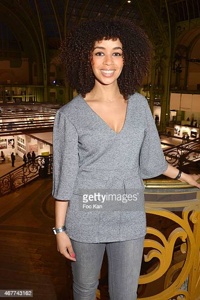 Aurelie Konate attends the 'Diamond Night by Divinescence Vendome' Harumi Klossowska Jewellery Exhibition Preview As Part Of Art Paris Art Fair at...