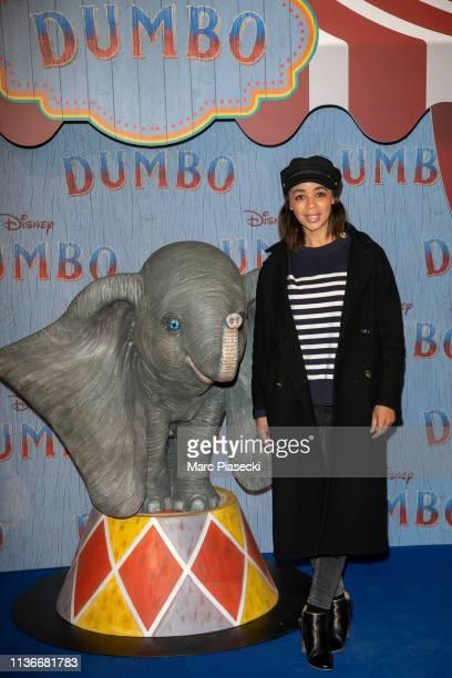 "Aurelie Konate attends the ""Dumbo"" Paris Gala Screening at Cinema Le Grand Rex on March 18, 2019 in Paris, France."