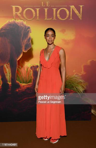 "Aurelie Konate attends ""The Lion King"" Paris Gala Screening At Le Grand Rex on July 11, 2019 in Paris, France."