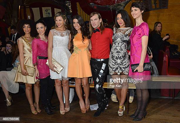 Aurelie Konate Fabienne Carat Eleonore Boccara Ludivine Sagna designer Christophe Guillarme Josephine Jobert and Eglantine Emeye attend the...