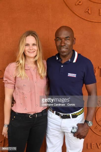 Aurelie Nollet et Lucien JeanBaptiste attends the 2018 French Open Day Seven at Roland Garros on June 2 2018 in Paris France