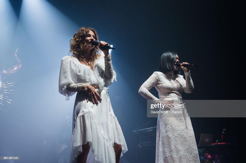 Brigitte Performs At L'Olympia In Paris