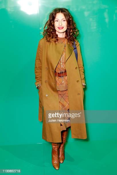 Aurelie Saada attends the Lacoste show as part of the Paris Fashion Week Womenswear Fall/Winter 2019/2020 on March 05 2019 in Paris France