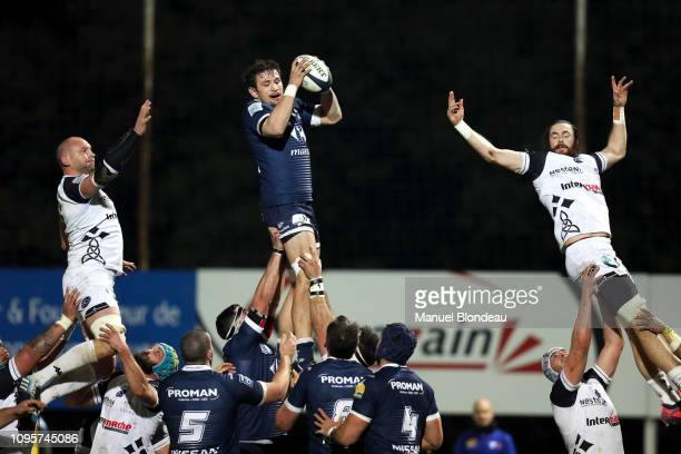 Aurelien Beco of Colomiers during the Pro D2 match between Colomiers and Vannes on February 8, 2019 in Colomiers, France.
