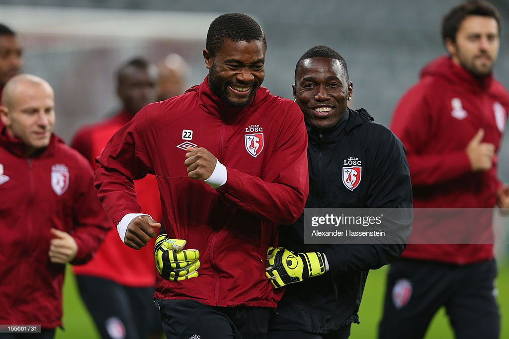 OSC Lille Training & Press Conference - UEFA Champions League