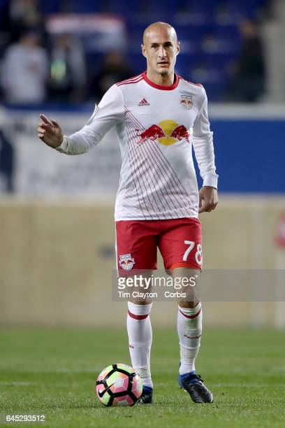 Aurelien Collin of New York Red Bulls during the New York Red Bulls Vs Vancouver Whitecaps FC CONCACAF Champions League match at Red Bull Arena on...