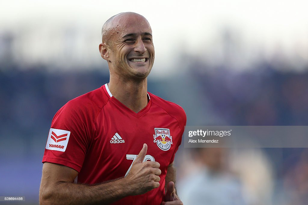 Aurelien Collin #78 of New York Red Bulls is seen during an MLS soccer match against the Orlando City SC at Camping World Stadium on May 6, 2016 in Orlando, Florida. The game ended in a 1-1 draw.