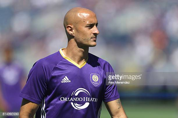 Aurelien Collin of Orlando City SC looks on during a MLS soccer match against Real Salt Lake at the Orlando Citrus Bowl on March 6 2016 in Orlando...