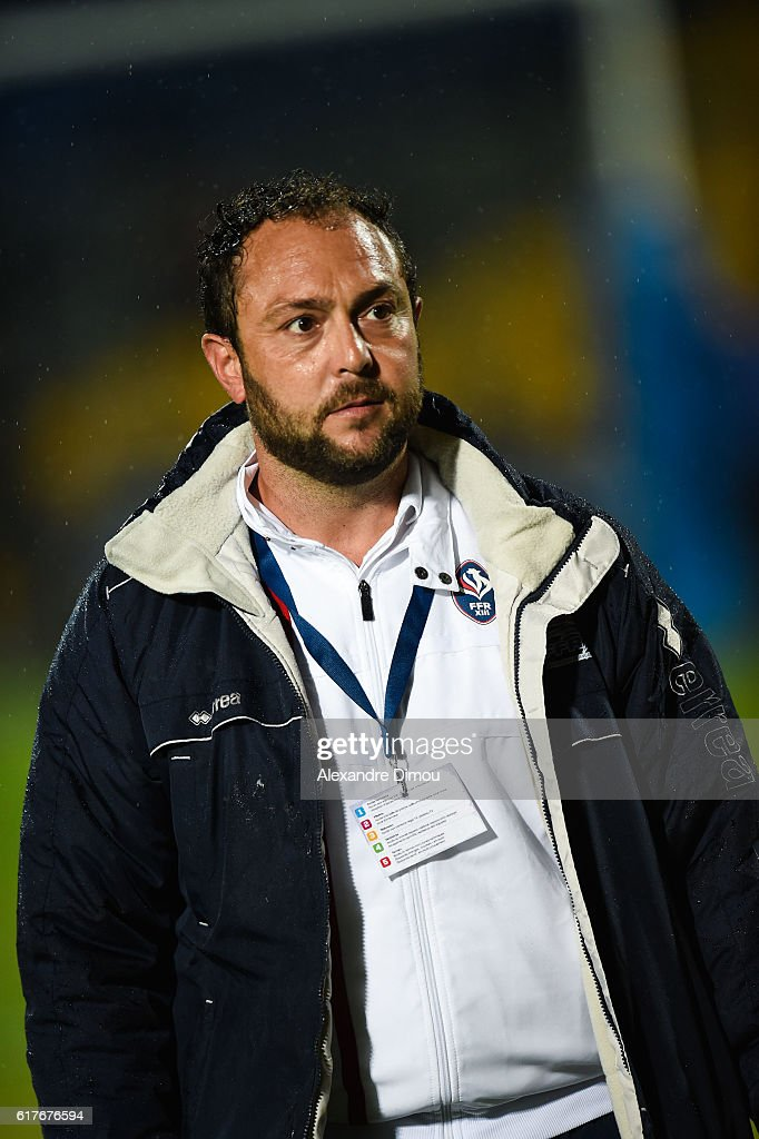 Aurelien Cologni Coach of France during the rugby union test match between France and England on October 22, 2016 in Avignon, France.