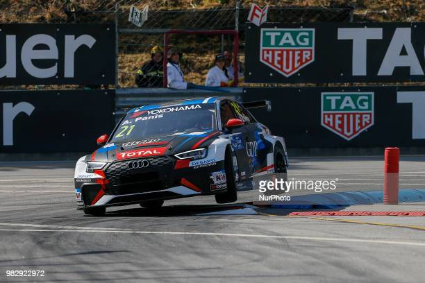 Aurelien Panis from France in Audi RS 3 LMS of Comtoyou Racing during the qualifying of FIA WTCR 2018 World Touring Car Cup Race of Portugal Vila...