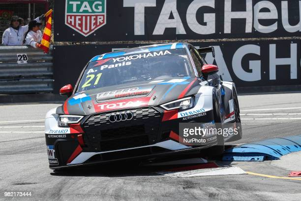 Aurelien Panis from France in Audi RS 3 LMS of Comtoyou Racing in action during the Race 1 of FIA WTCR 2018 World Touring Car Cup Race of Portugal...