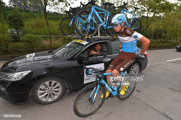 Aurelien ParetPeintre of France and Team Ag2R La Mondiale / Feed Zone / Staff / Car / during the 2nd Tour of Guangxi 2018 Stage 4 a 1522km stage from...