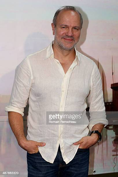 """Aurelien Recoing attends the photocall of """"Les Revenants"""" as part of the 17th Festival of TV Fiction of La Rochelle on September 12, 2015 in La..."""