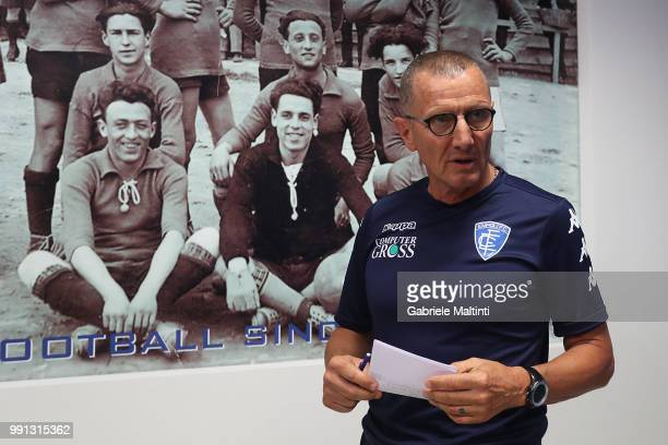 Aurelio Andreazzoli manager of Empoli FC during the first press conference of the 2018/2019 season on July 4 2018 in Empoli Italy