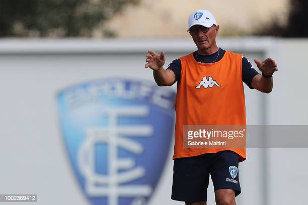 Aurelio Andreazzoli manager of Empoli FC looks on during the training session on July 20 2018 in Empoli Italy
