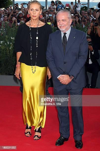 Aurelio De Laurentiis and wife Jacqueline Baudit arrive at the closing ceremony of the 70th Venice International Film Festival at Palazzo del Cinema...